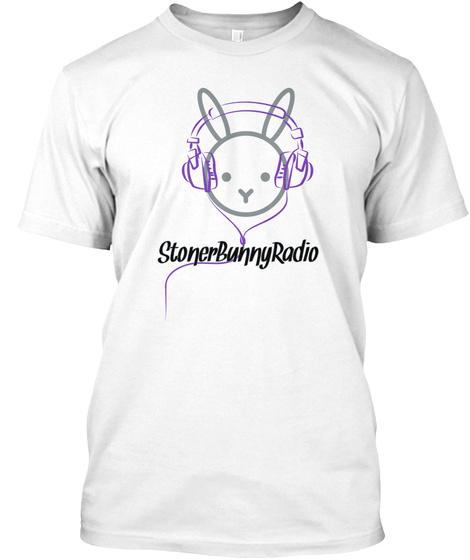Stoner Bunny Radio White T-Shirt Front