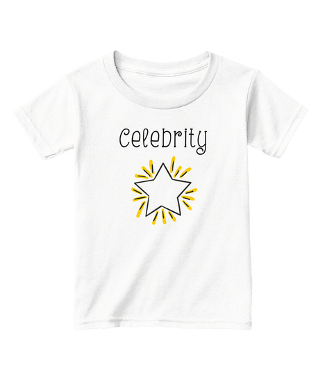 Celebrity White  T-Shirt Front