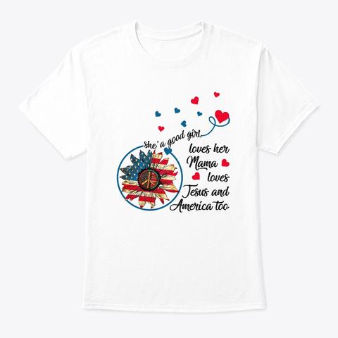 Flower Children Good Girl Hippie Costume White T-Shirt Front