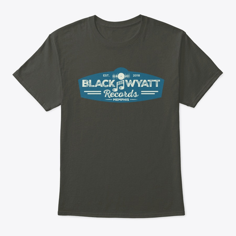 Black And Wyatt Records Apparel Smoke Gray T-Shirt Front