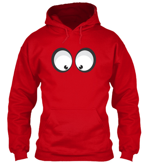 Googly Eyes Emoji Hoodie Or T Shirt Red Sweatshirt Front