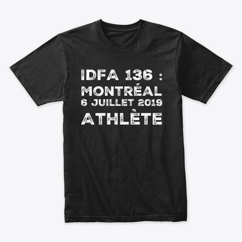 Idfa 136 Montréal Competitor Black T-Shirt Front