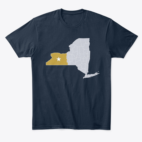 Free State Of Wny New Navy T-Shirt Front