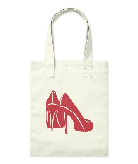 Red Shoes Natural Tote Bag Natural T-Shirt Front