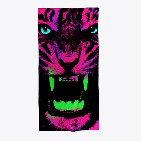 Pop Tiger Black T-Shirt Front