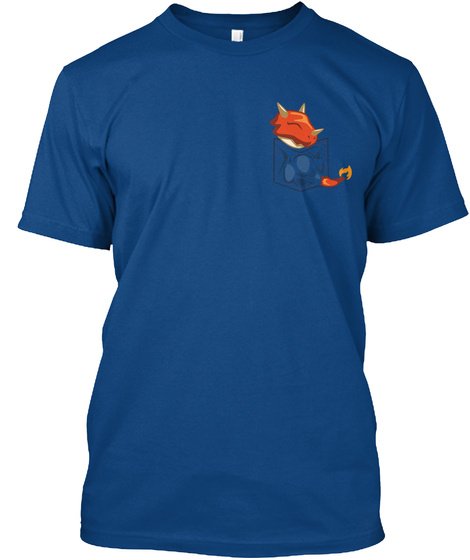 Dragon Pocket Tee Royal T-Shirt Front