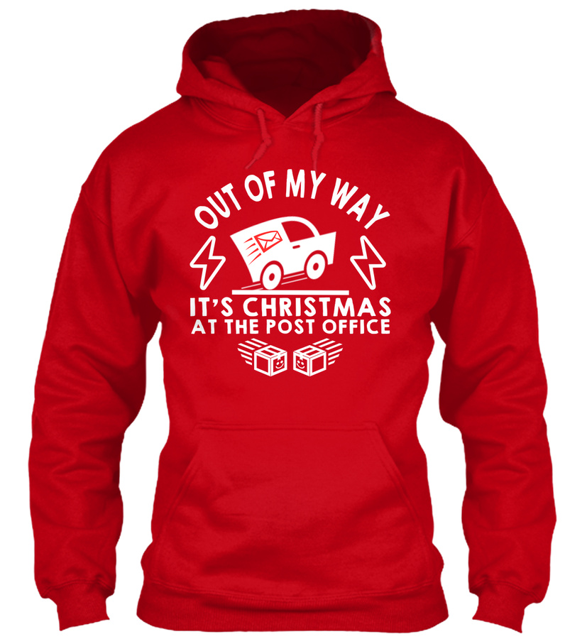 OUT OF MY WAY - CHRISTMAS- POST OFFICE Unisex Tshirt