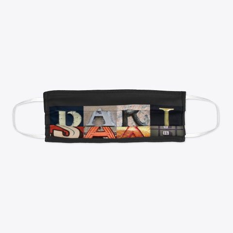 Artsy Alphabet   Bari Sax   Face Mask Black T-Shirt Flat