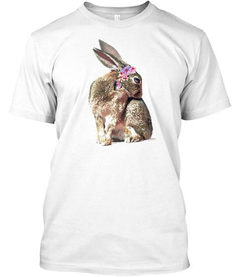 Rose The Rabbit, 8 X10, Animal Wall Art P White T-Shirt Front