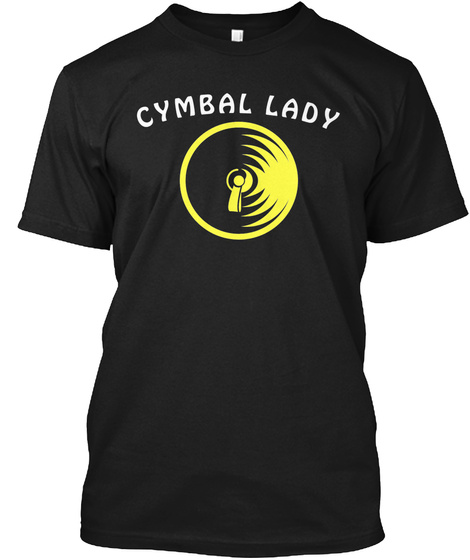 Cymbal Lady Black T-Shirt Front