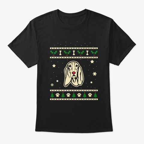 Christmas Schweizer Laufhund Gift Black T-Shirt Front