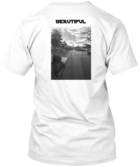 Beautiful  White T-Shirt Back