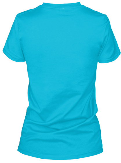 Awesome Reindeer  Turquoise T-Shirt Back