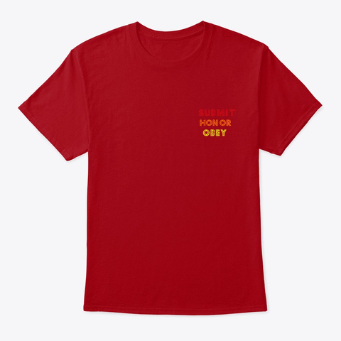 Stay Calm   Police State Shirt  Hoodie Deep Red T-Shirt Front