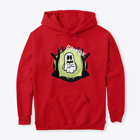 Halloween Grumpy Goast Red T-Shirt Front