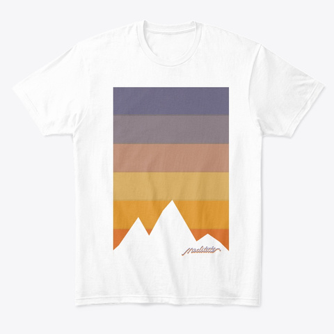 Meditate White T-Shirt Front
