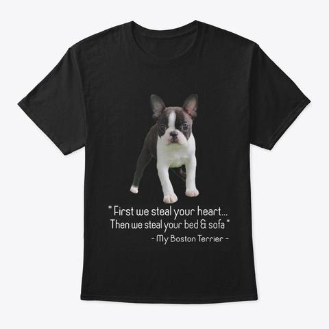 Boston Terrier Black T-Shirt Front