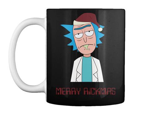 Rick Sanchez Christmas Mug Black T-Shirt Front