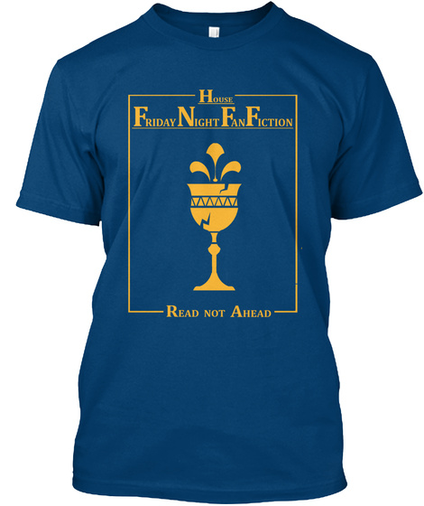 House Fnf: Read Not Ahead! Cool Blue T-Shirt Front