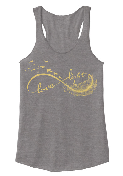 Love Light  Eco Grey T-Shirt Front