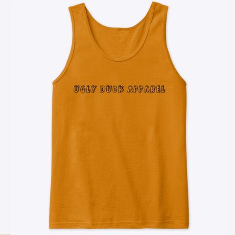Inglés Series  Tank Orange T-Shirt Front