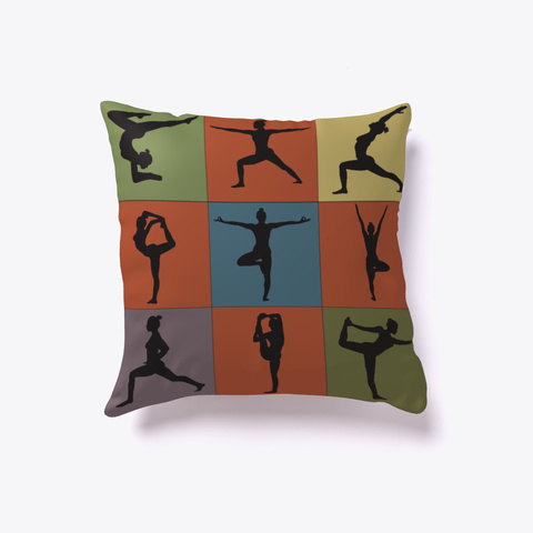 Yoga Poses Limited Edition   Pillow White Kaos Front