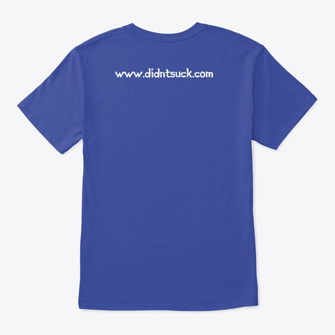 My Religion Is Bao Ism   Light Text Deep Royal T-Shirt Back