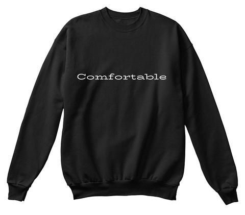 Comfortable Sweatshirt Black T-Shirt Front