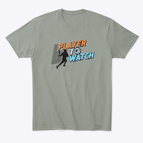 Player To Watch Grey T-Shirt Front