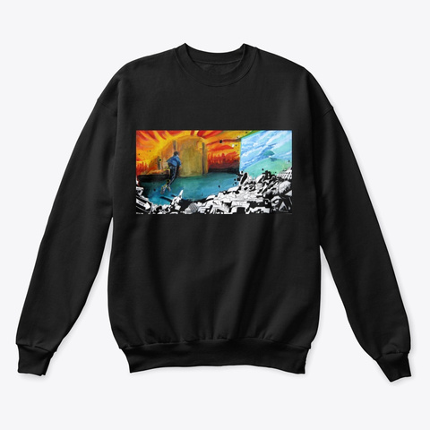 """""""Endlessly""""   Sweater Black T-Shirt Front"""