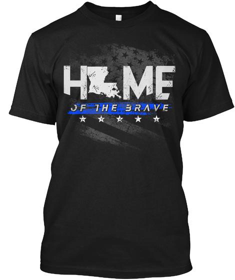 Louisiana Police: Home Black T-Shirt Front