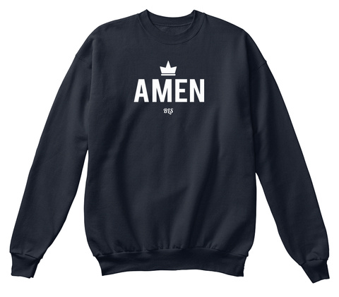 Amen Bls  French Navy T-Shirt Front