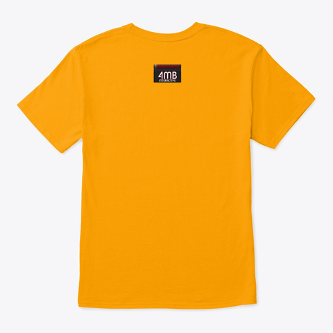 4 Mb Interactive Logo Collection Gold T-Shirt Back