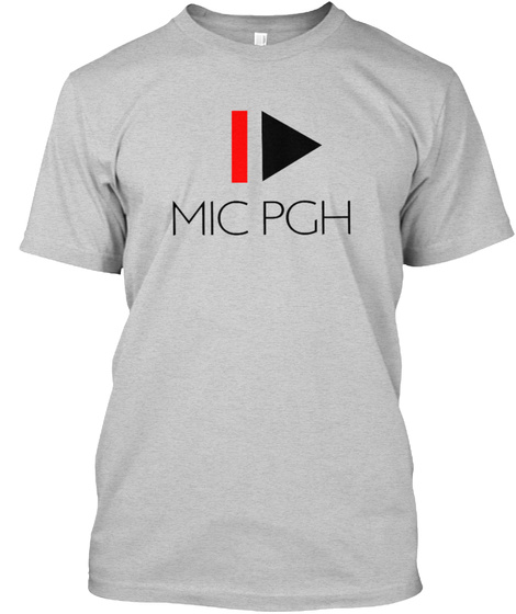 Mic Pgh  Light Steel T-Shirt Front