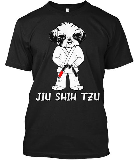 Male Jiu Shih Tzu Black T-Shirt Front