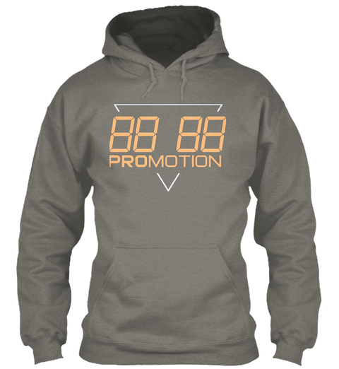 """Promotion Hoodie """"Apricot"""" Charcoal T-Shirt Front"""