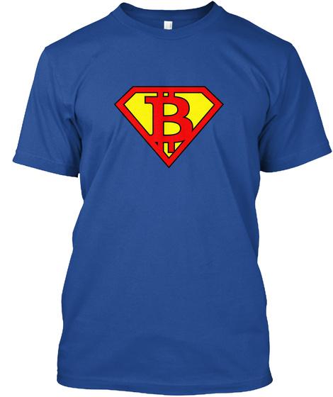 Bitwear   Super Btc T Shirt Deep Royal T-Shirt Front
