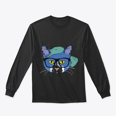 Picasso Cat Black T-Shirt Front