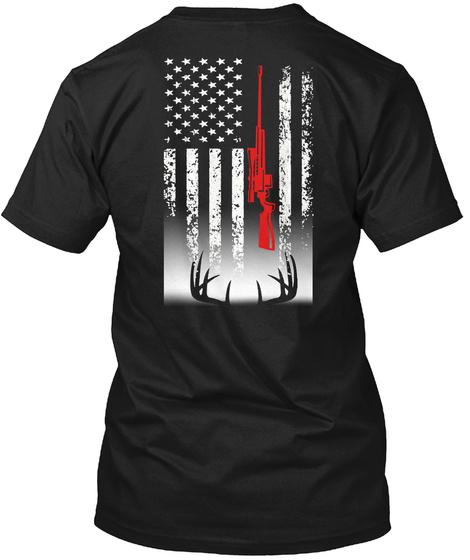 Deer Hunting Black T-Shirt Back