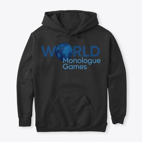 World Monologue Games Apparel Black T-Shirt Front