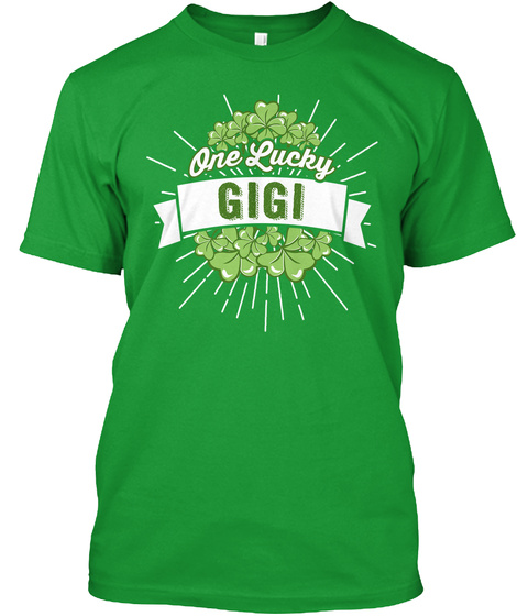 One Lucky Gigi  Kelly Green T-Shirt Front