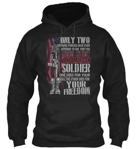 Veteran Shirt Black T-Shirt Front