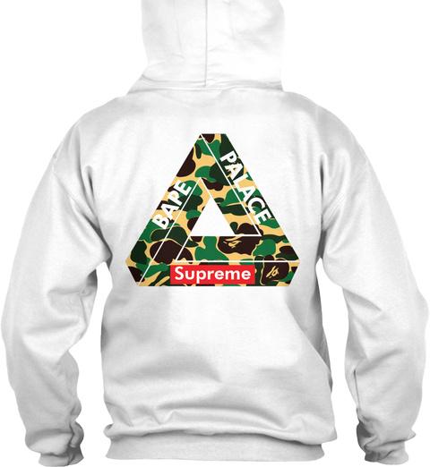 da147fc66357 Bape Palace Supreme White Sweatshirt Back. Supreme White Sweatshirt Front