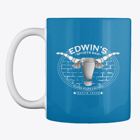 Edwin's Pours Mug Royal Blue T-Shirt Front
