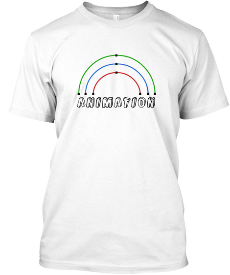 Animation White T-Shirt Front