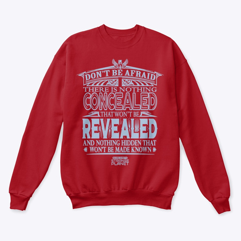 The Truth Revealed Deep Red  T-Shirt Front