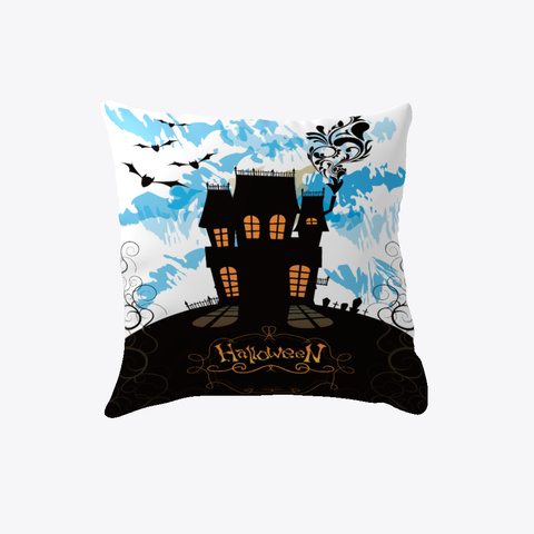 Halloween Pillow White T-Shirt Front
