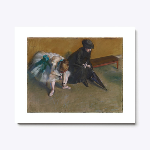 Edgar Degas   Famous Paintings   Waiting Standard T-Shirt Front