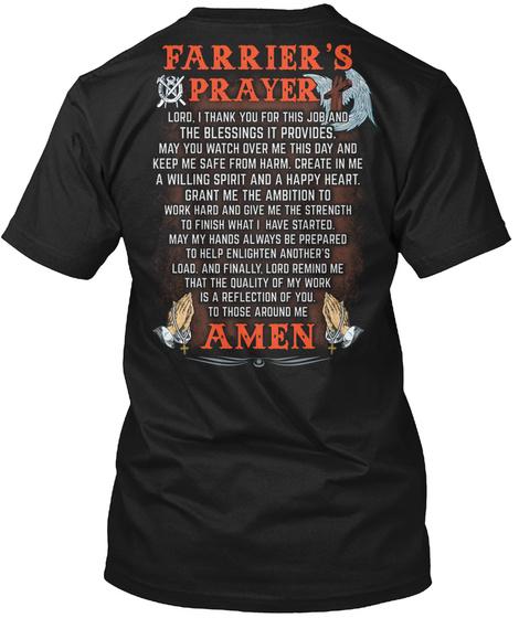 Faithful Farrier Black T-Shirt Back