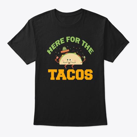 Mexico Taco Cinco De Mayo Black T-Shirt Front